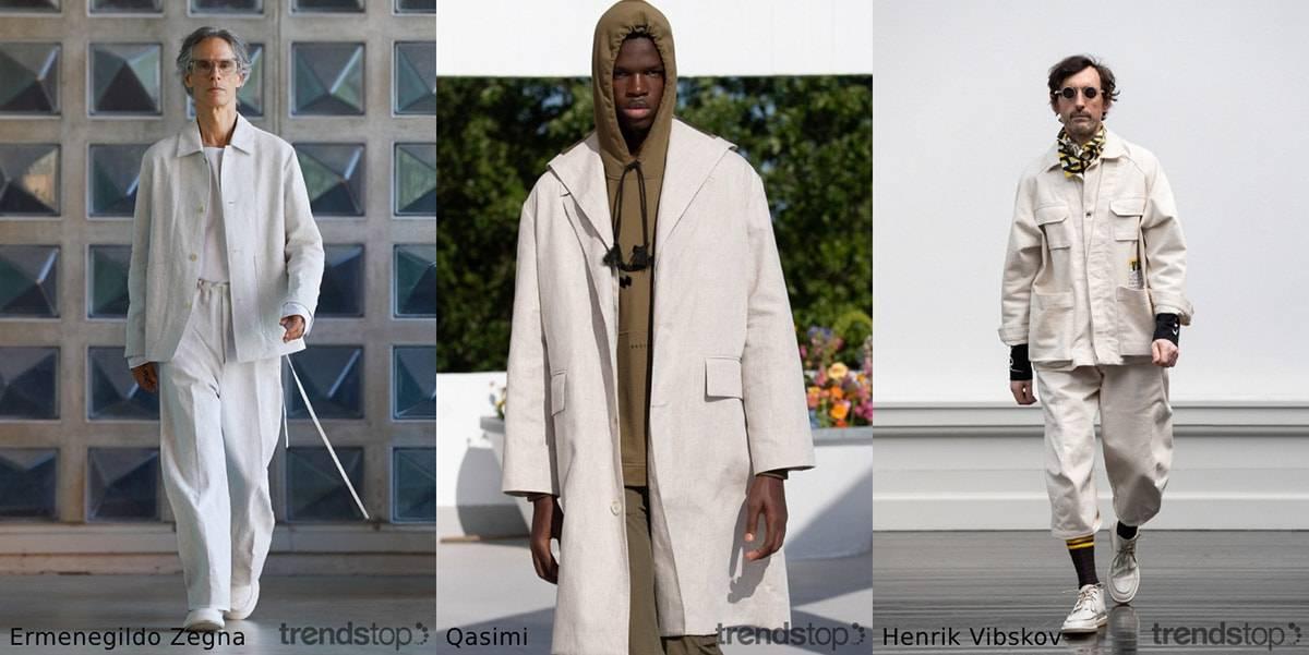 Tendencias de tejidos de las pasarelas masculinas para Primavera/Verano 2022