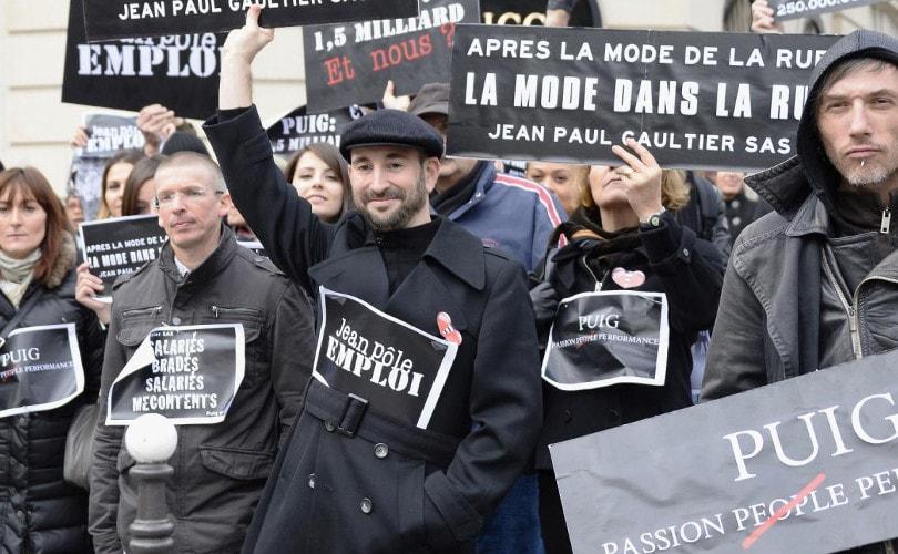 Los asalariados de Jean-Paul Gaultier en huelga